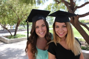 Danielle and Priscilla graduation color