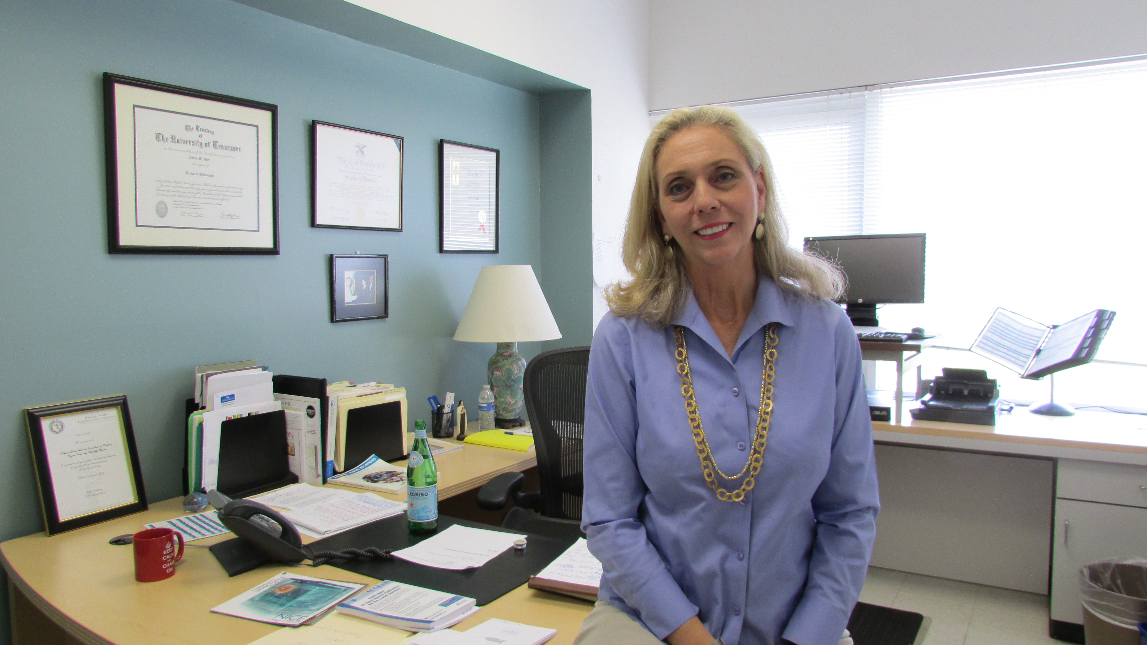 Dr. Astrid Sheil keeps busy on campus