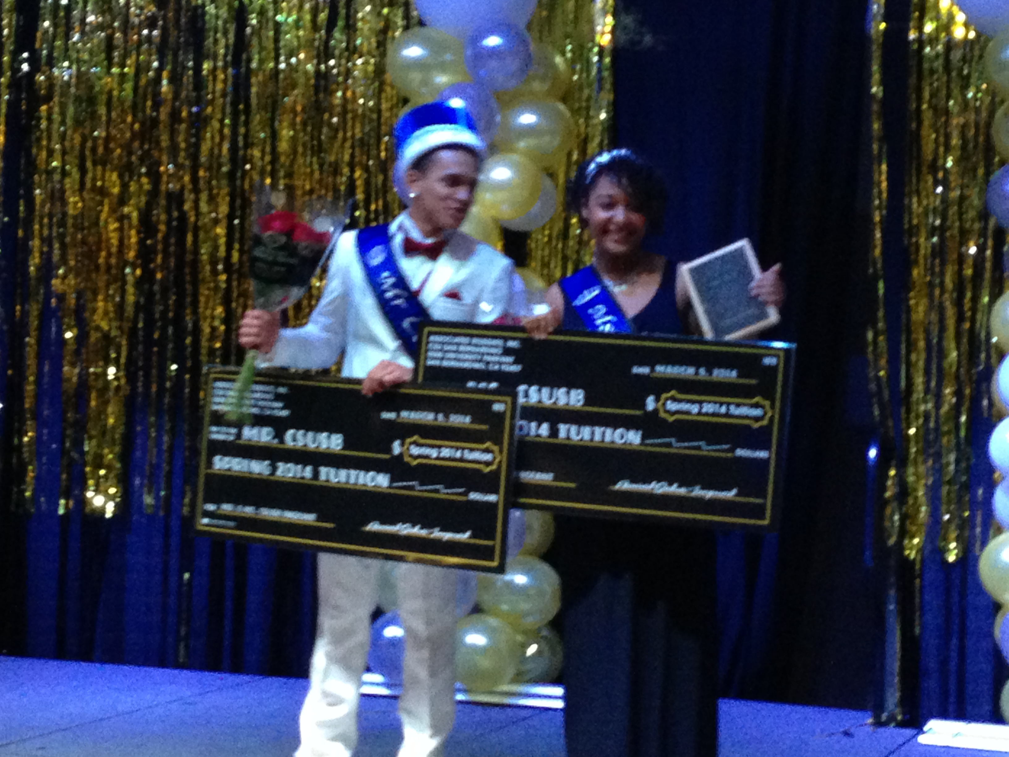 Students are crowned Mr. and Mrs. CSUSB