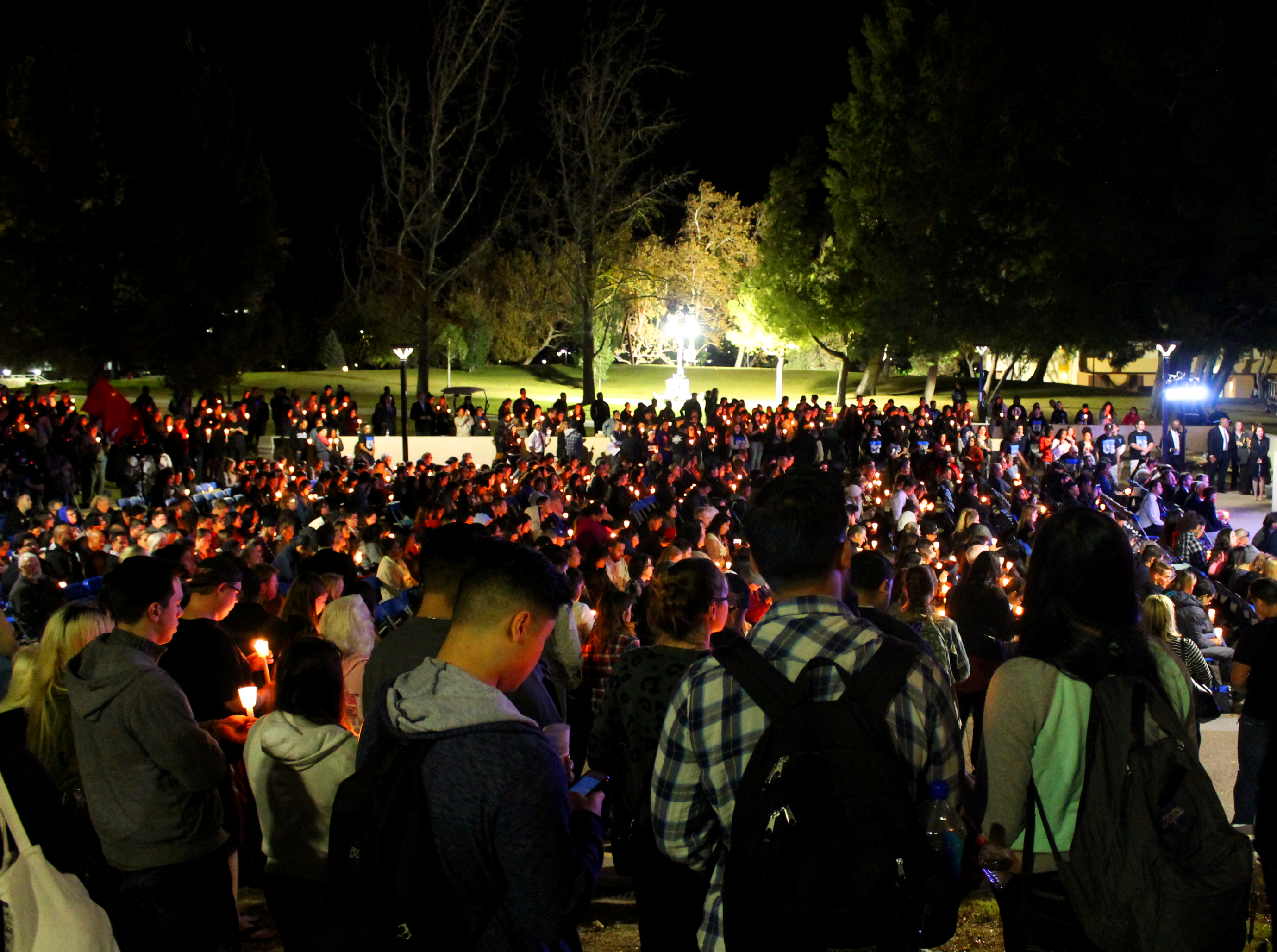 CSUSB honors victims with candlelight vigil
