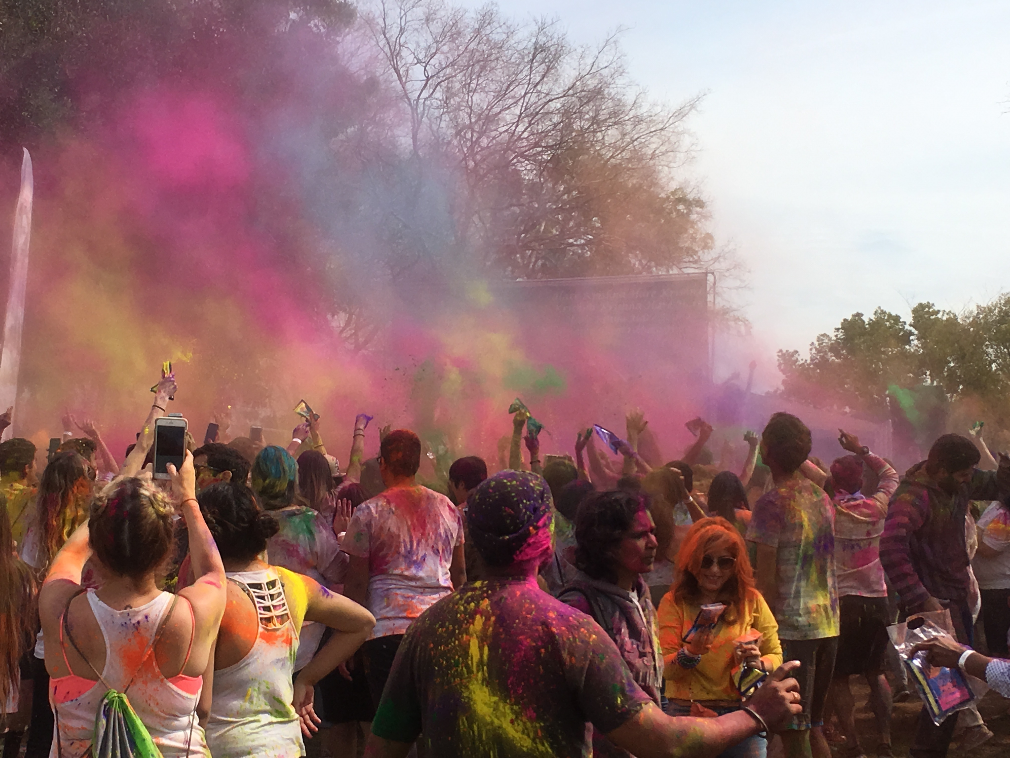 Getting colorful at Holi Festival