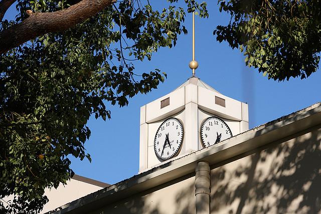 CSUSB Clock Tower in Summer