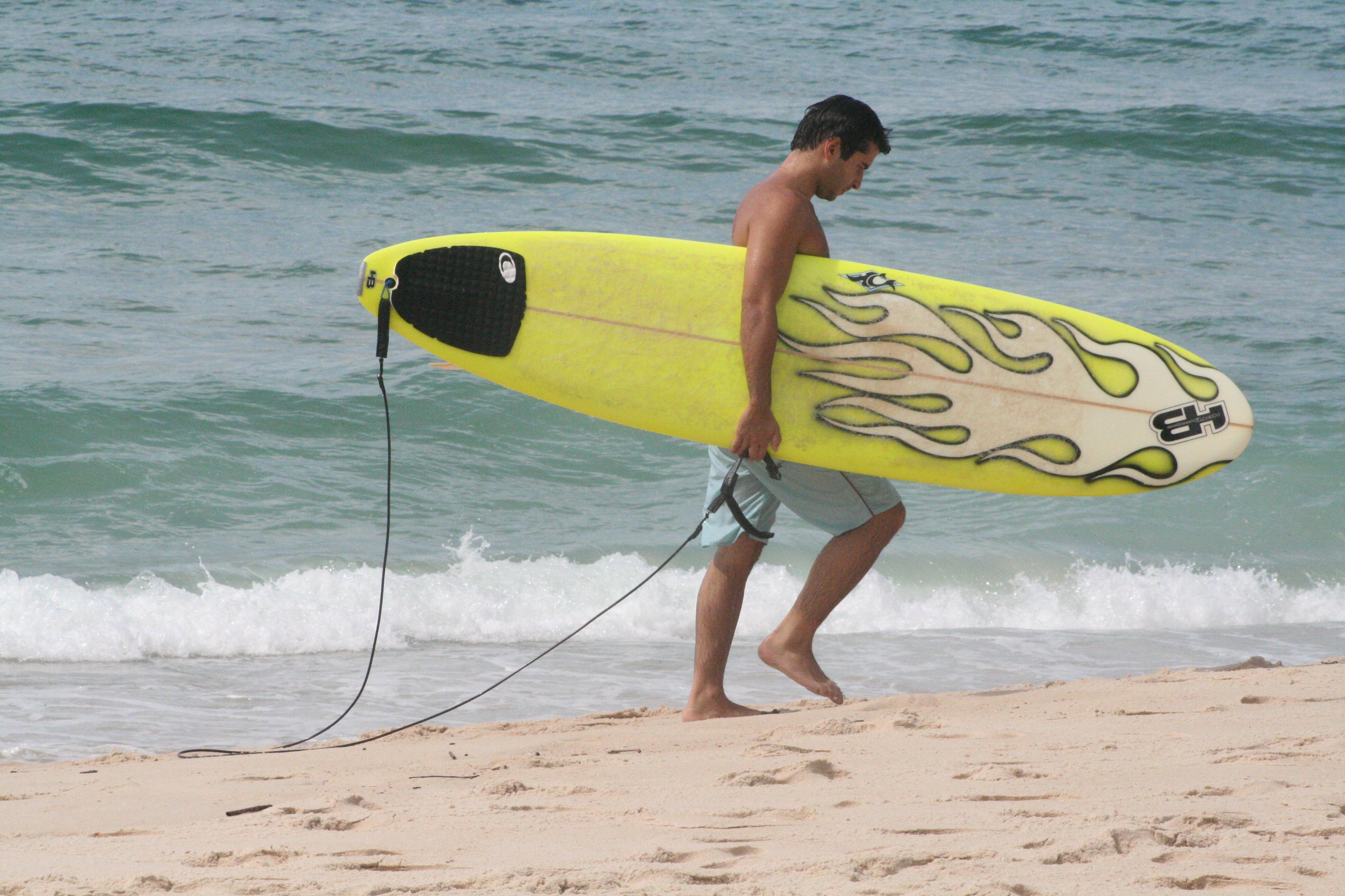 Beach bum and sports fun