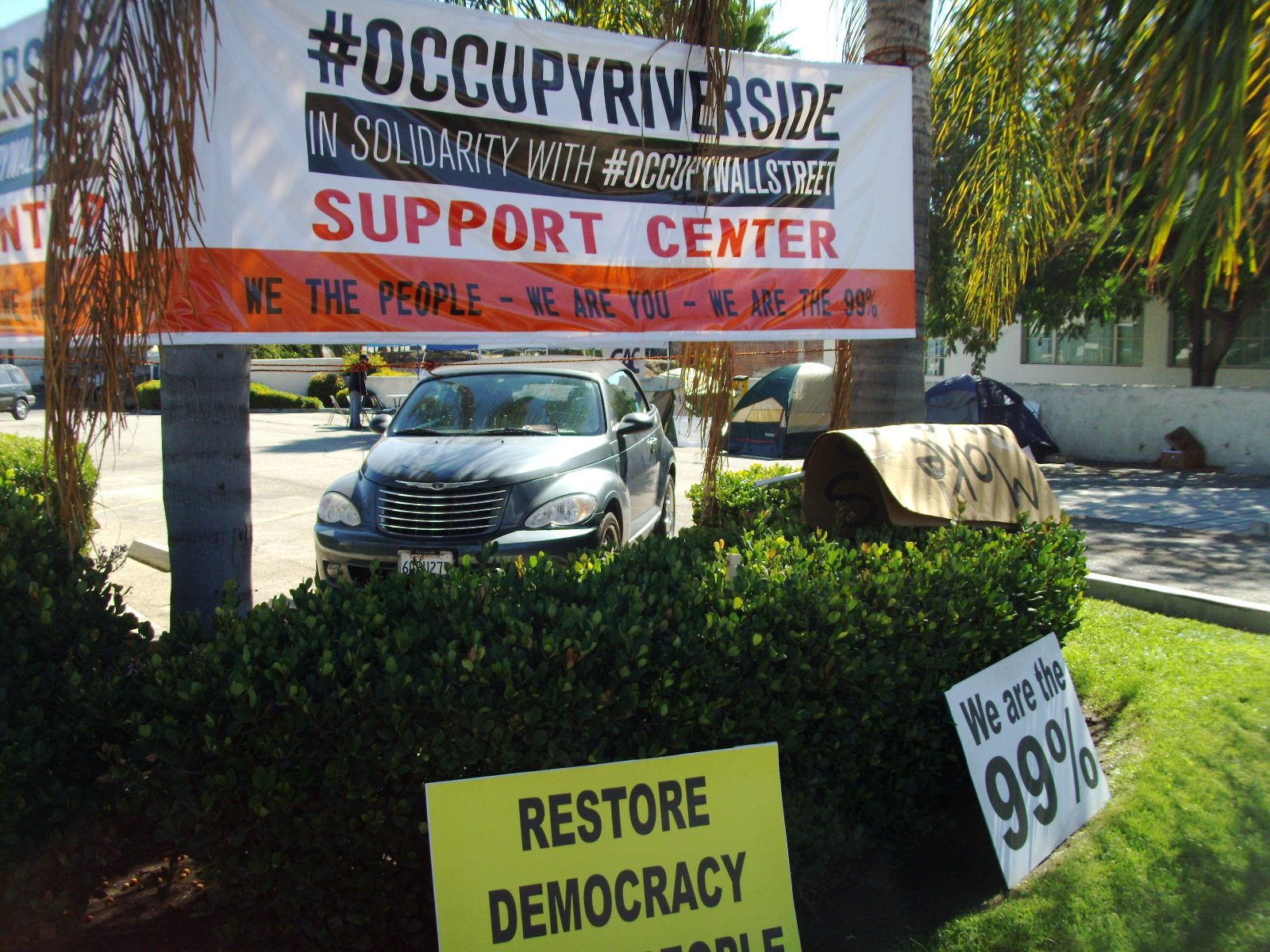 Occupy Riverside: the protest around the corner