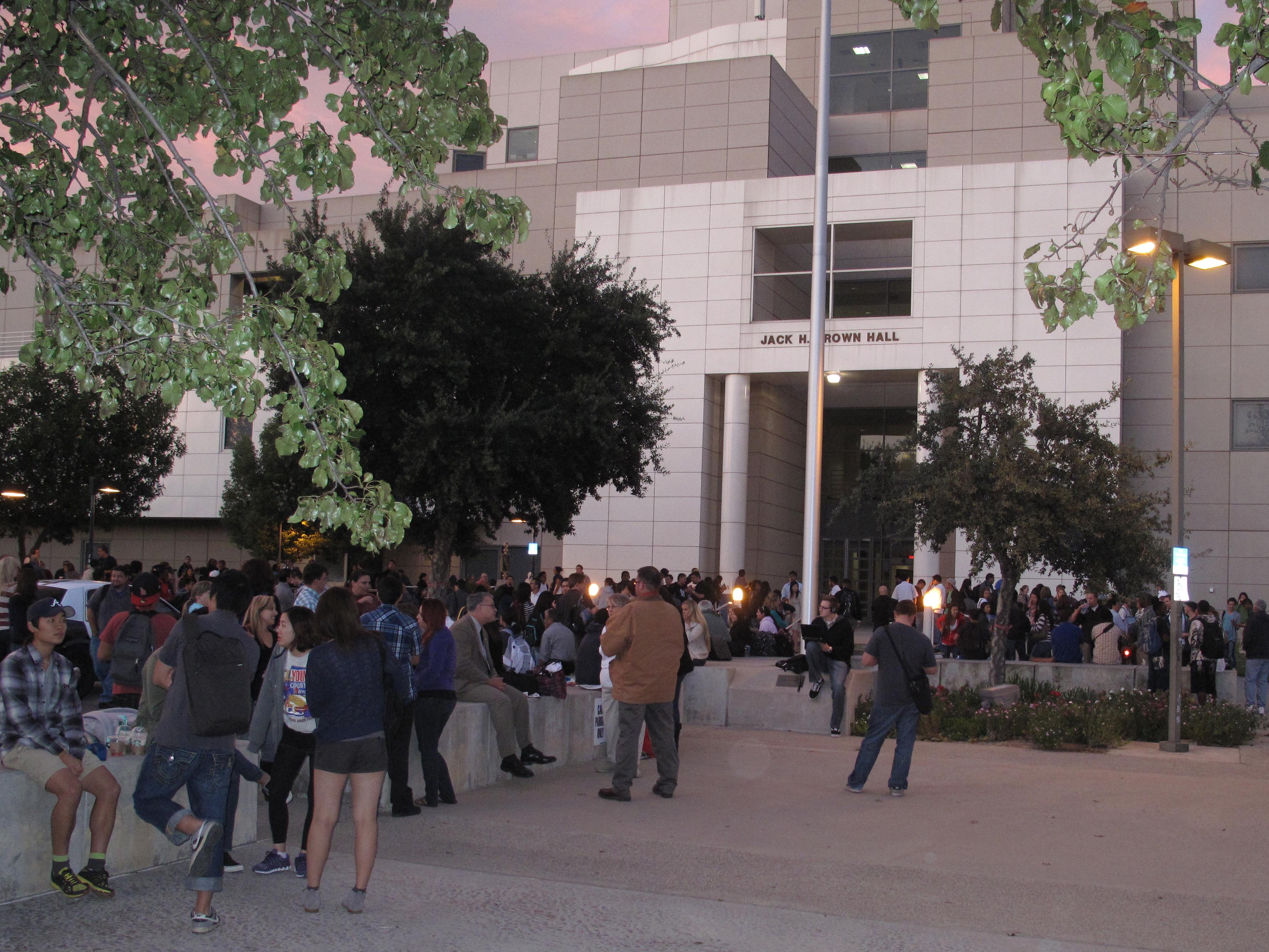 Jack Brown Hall Evacuated