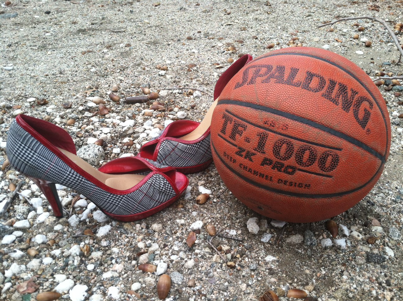 Turning is the basketball for business heels