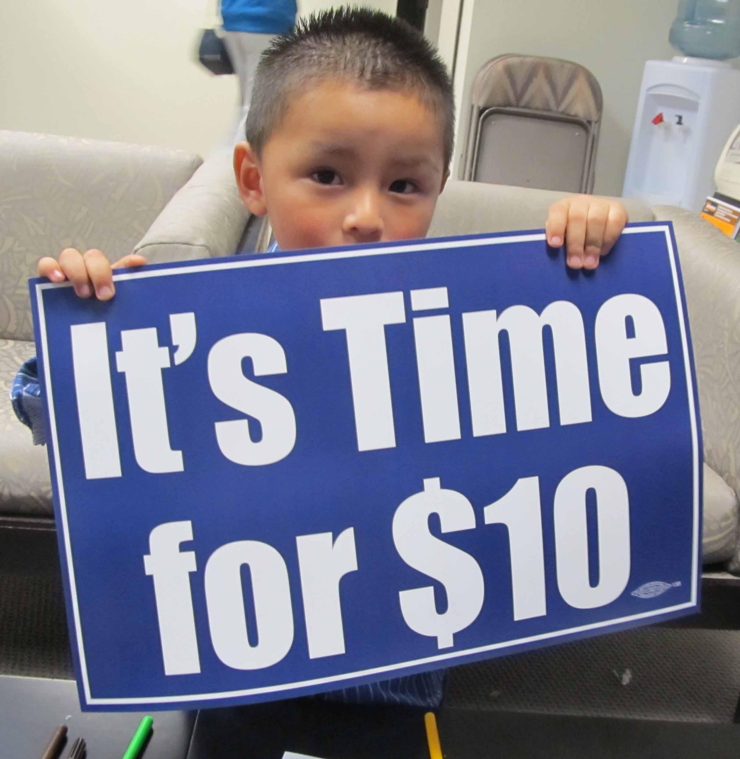 Minimum wage subject to raise to $10