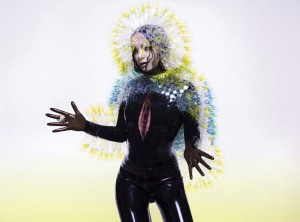 "Bjork posing for her ""Vulnicura"" album. 