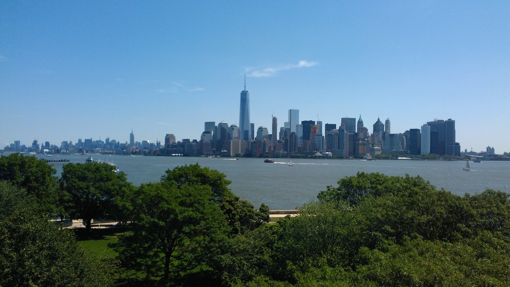 A view of Manhattan from Ellis Island. Daniel DeMarco | Chronicle Photo