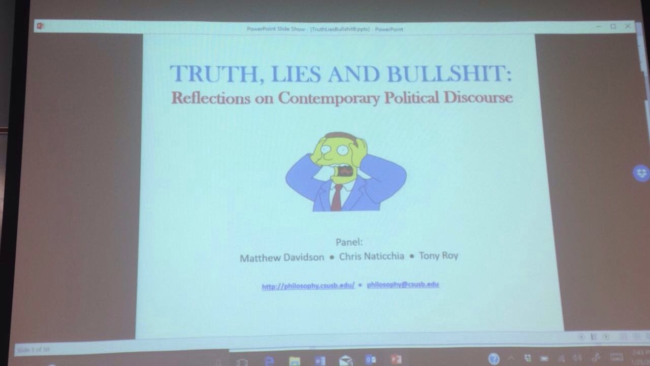 Truth, lies and bullshit: A panel discussion the many events that have taken place throughout the election