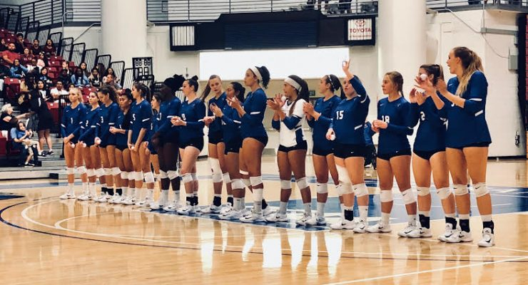 Volleyball Sweeps Homecoming Game
