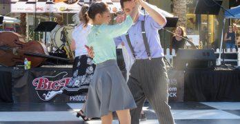 Swing 'N Hops Street Party dances back in time