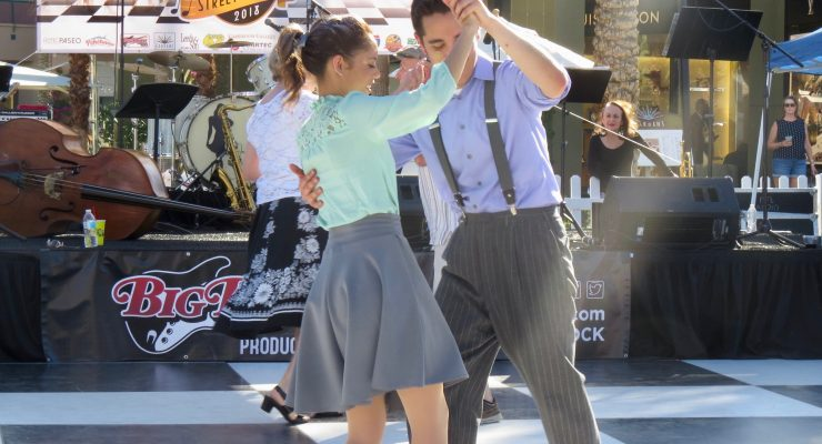 Swing 'N Hops Street Party dances back in time
