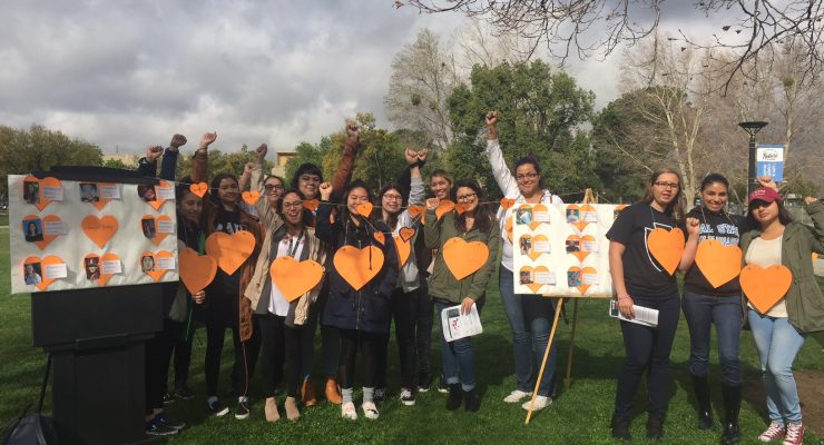 CSUSB VOICE Peers organize #ENOUGH walkout