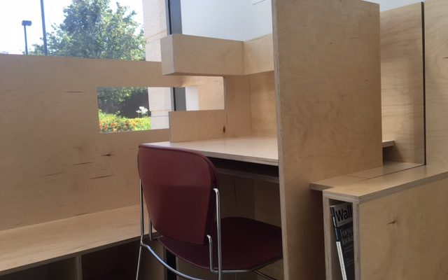 Design students create multi-functional lobby furniture for their building