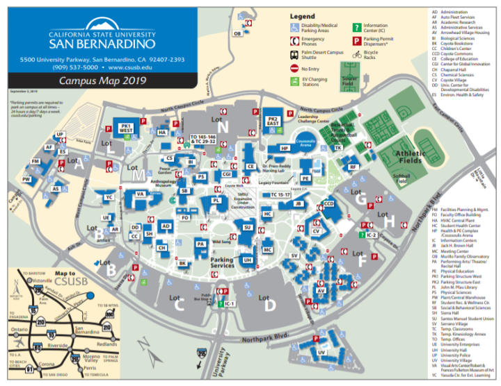 cal state san bernardino campus map Better Days Ahead For Campus Parking Coyote Chronicle Csusb cal state san bernardino campus map