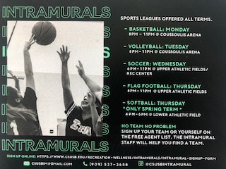 Campus community's preparation for intramural sports
