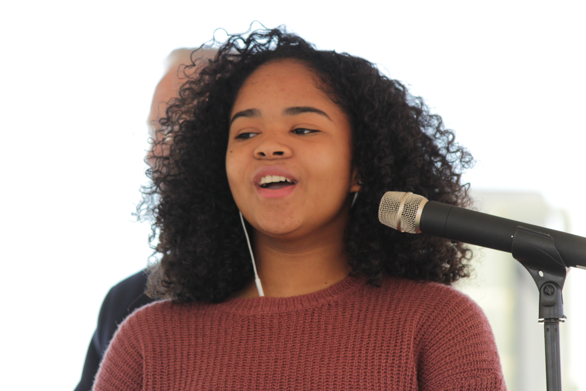 Local High School Student Lilian Nell Diaz singing the National Anthem