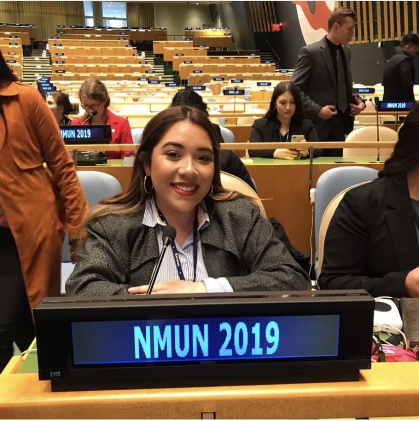 Moran has been able to advocate through the Model United Nations Program by attending the New York Conference.